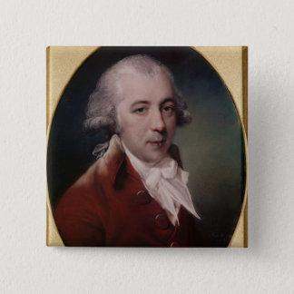 Portrait of Richard Brinsley Sheridan  1788 Button