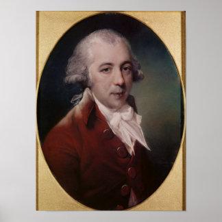Portrait of Richard Brinsley Sheridan 1788 Print
