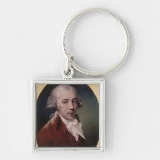 Portrait of Richard Brinsley Sheridan  1788 Silver-Colored Square Keychain