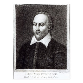 Portrait of Richard Burbadge Postcard
