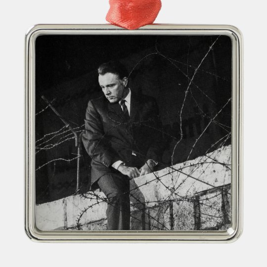 Portrait of Richard Burton Metal Ornament