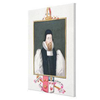 Portrait of Richard Cox (1500-81) Bishop of Ely fr Canvas Print