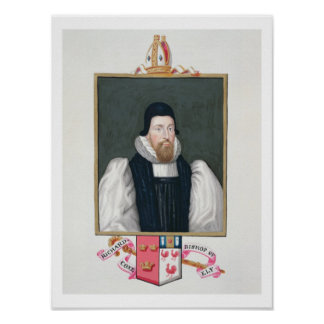 Portrait of Richard Cox 1500-81 Bishop of Ely fr Print