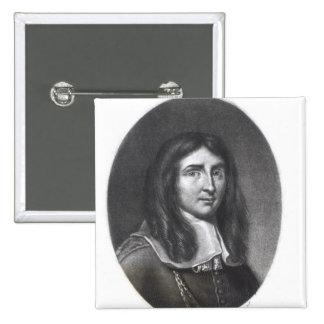 Portrait of Richard Cromwell Pinback Button