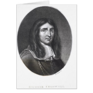 Portrait of Richard Cromwell Greeting Cards