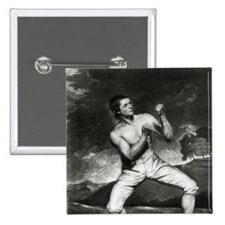 Portrait of Richard Humphreys Pinback Button