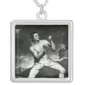 Portrait of Richard Humphreys Silver Plated Necklace