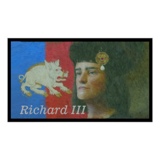 Portrait of Richard III by an impressionist Poster