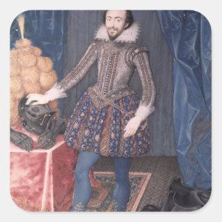 Portrait of Richard Sackville, 3rd Earl of Square Sticker