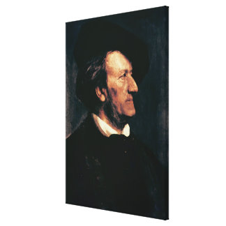 Portrait of Richard Wagner (1813-83) (oil on canva Canvas Print