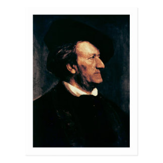 Portrait of Richard Wagner (1813-83) (oil on canva Postcard