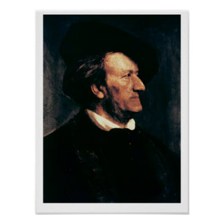 Portrait of Richard Wagner (1813-83) (oil on canva Poster