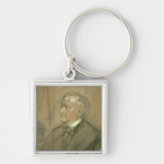Portrait of Richard Wagner  1868 Keychain