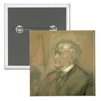 Portrait of Richard Wagner  1868 Pinback Button