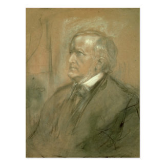 Portrait of Richard Wagner  1868 Postcard