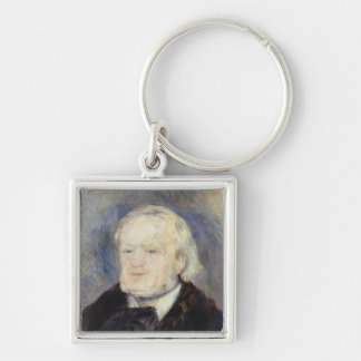 Portrait of Richard Wagner  1882 Silver-Colored Square Keychain