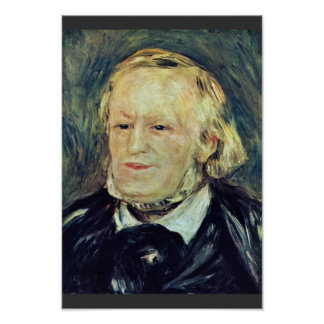 Portrait Of Richard Wagner By Pierre-Auguste Poster
