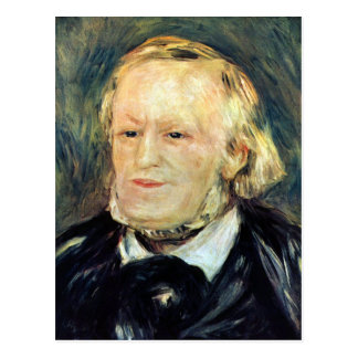 Portrait of Richard Wagner by Pierre Renoir Postcard