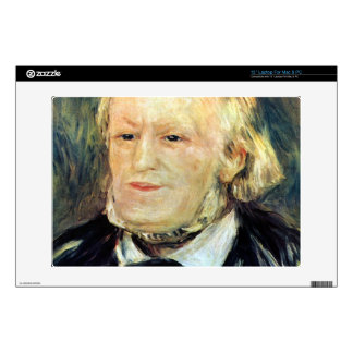 """Portrait of Richard Wagner by Pierre Renoir Decals For 13"""" Laptops"""