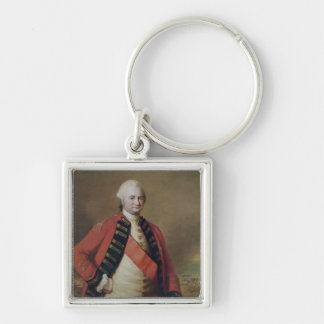 Portrait of Robert Clive  1st Baron Clive, 1773 Keychain