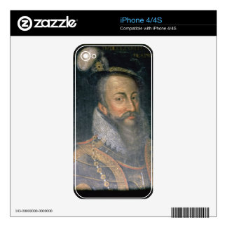Portrait of Robert Dudley (1532-88) Earl of Leices Decal For iPhone 4