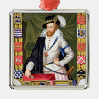 Portrait of Robert Dudley (c.1532-88) Earl of Leic Metal Ornament