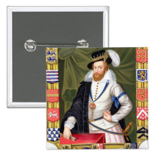 Portrait of Robert Dudley (c.1532-88) Earl of Leic Pinback Button
