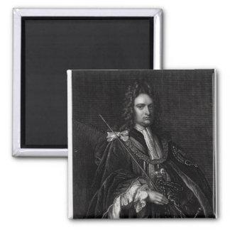 Portrait of Robert Harley 2 Inch Square Magnet