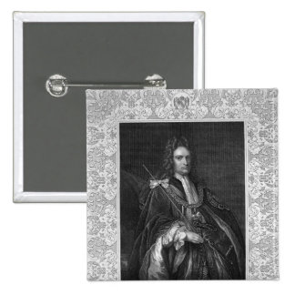 Portrait of Robert Harley, Earl of Oxford 2 Inch Square Button