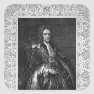 Portrait of Robert Harley, Earl of Oxford Square Sticker