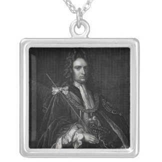 Portrait of Robert Harley Square Pendant Necklace