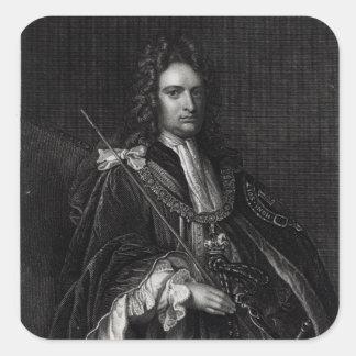 Portrait of Robert Harley Square Sticker