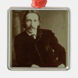 Portrait of Robert Louis Balfour Stevenson (1850-9 Metal Ornament