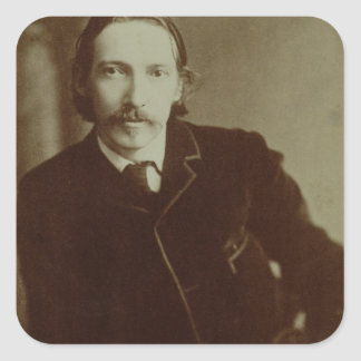 Portrait of Robert Louis Balfour Stevenson (1850-9 Square Sticker