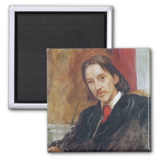 Portrait of Robert Louis Stevenson  1886 2 Inch Square Magnet