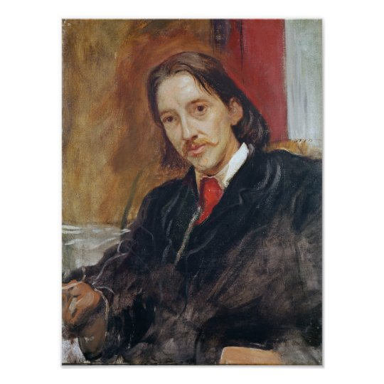 Portrait of Robert Louis Stevenson  1886 Poster