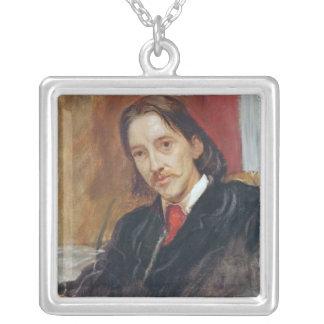 Portrait of Robert Louis Stevenson  1886 Square Pendant Necklace