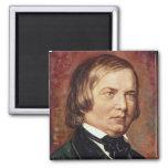 Portrait of Robert Schumann 2 Inch Square Magnet