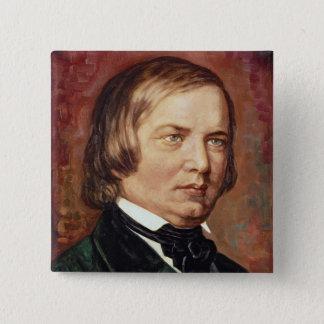 Portrait of Robert Schumann Button