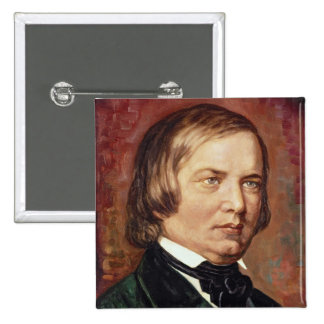 Portrait of Robert Schumann 2 Inch Square Button