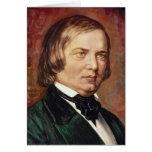 Portrait of Robert Schumann Greeting Card