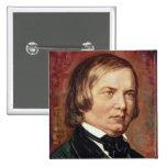 Portrait of Robert Schumann Pins
