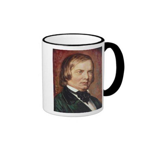 Portrait of Robert Schumann Ringer Coffee Mug
