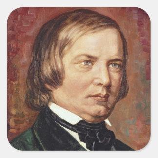 Portrait of Robert Schumann Square Sticker