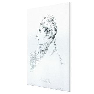 Portrait of Robert Southey Canvas Print