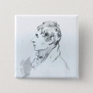 Portrait of Robert Southey Pinback Button