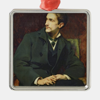 Portrait of Robert Square Metal Christmas Ornament