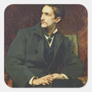 Portrait of Robert Square Sticker