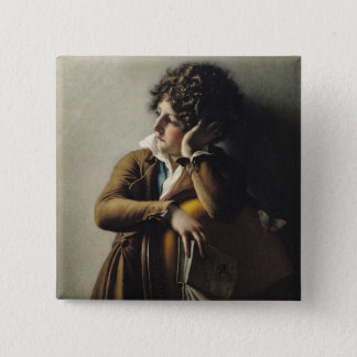 Portrait of Romainville-Trioson, 1800 Pinback Button