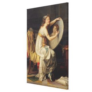 Portrait of Rose Adelaide Ducreux Canvas Print